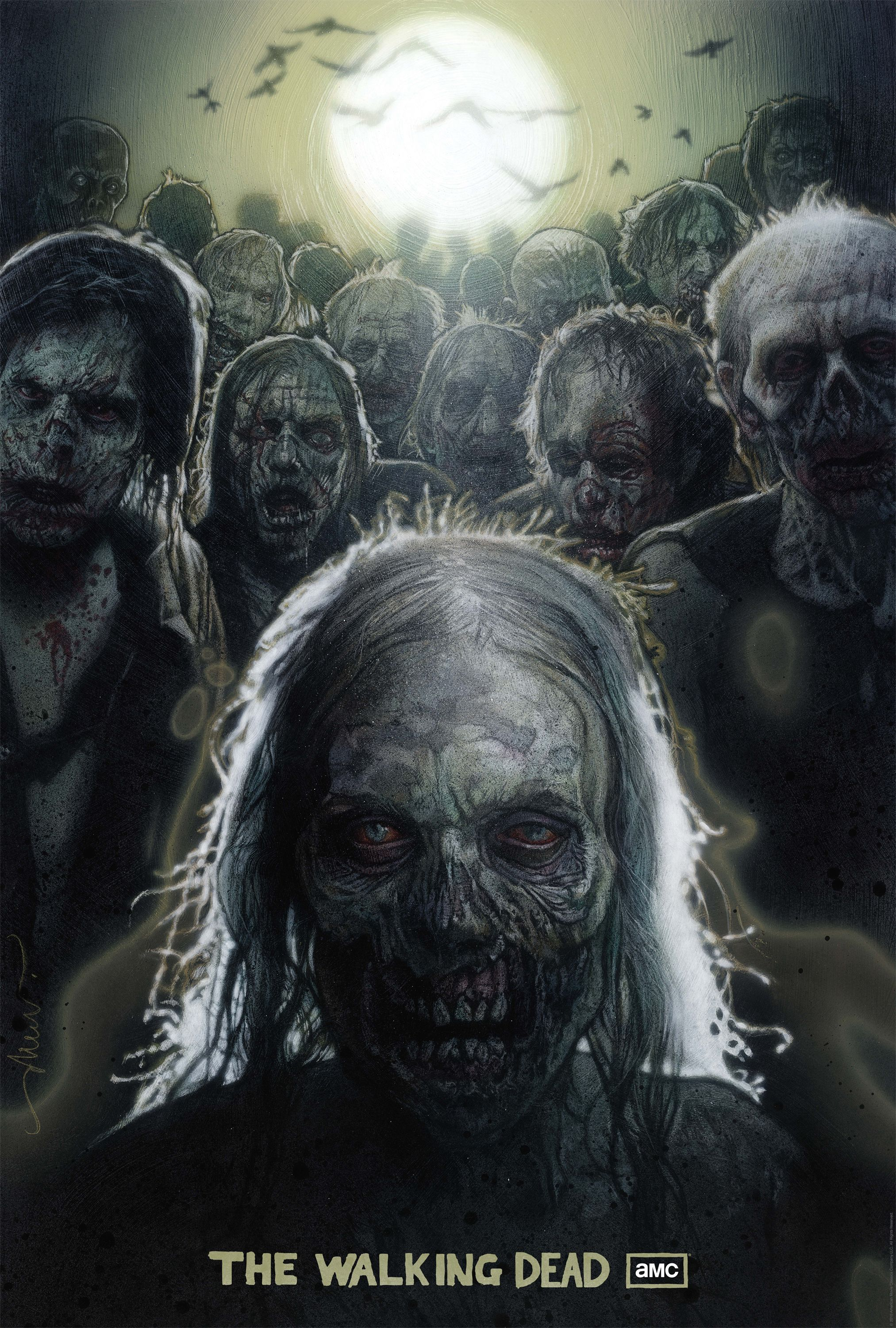the walking dead drew struzan comic con poster 202x300 Drew Struzans