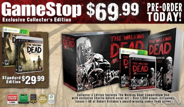 twdcollectors editiongamestopjpg fcdc8c 800w 610x356 Exclusive Limited Edition Walking Dead Video Game Collectors Edition Available For Pre Order At Gamestop